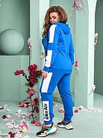 Женский спортивный костюм с широкими контрастными лампасами с 48 по 54 размер, фото 3