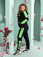 Женский спортивный костюм с широкими контрастными лампасами с 48 по 54 размер, фото 4