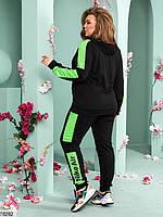Женский спортивный костюм с широкими контрастными лампасами с 48 по 54 размер, фото 5