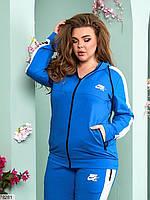 Женский спортивный костюм с широкими контрастными лампасами с 48 по 54 размер, фото 6