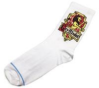 Шкарпетки Грифіндор Гаррі Поттер Harry Potter білі з принтом, фото 1