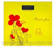 Весы напольные MATARIX MX-453 Желтые цветы