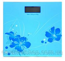 Весы напольные MATARIX MX-453 Голубые цветы