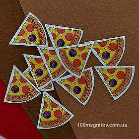 """Рекламний магніт у формі """"Піцци"""". Діаметр 90 мм 1"""