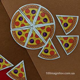 """Рекламний магніт у формі """"Піцци"""". Діаметр 90 мм 2"""
