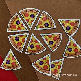 """Рекламний магніт у формі """"Піцци"""". Діаметр 90 мм 3"""