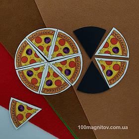 """Рекламний магніт у формі """"Піцци"""". Діаметр 90 мм 4"""