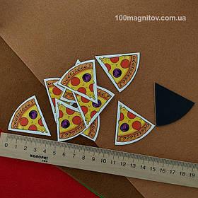 """Рекламний магніт у формі """"Піцци"""". Діаметр 90 мм 5"""