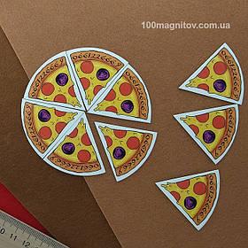 """Рекламний магніт у формі """"Піцци"""". Діаметр 90 мм 6"""