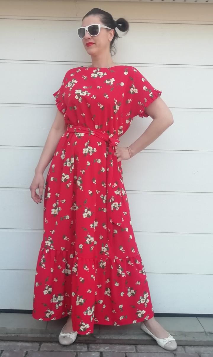 Платье-макси красное