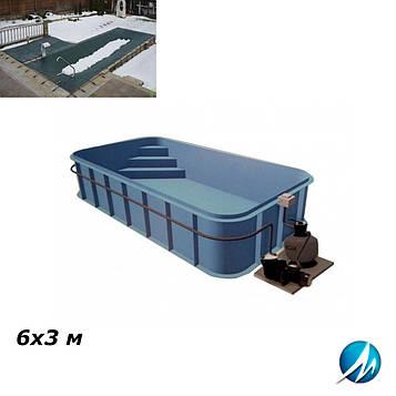 Зимовий накриття для поліпропіленового басейну 6х3 м