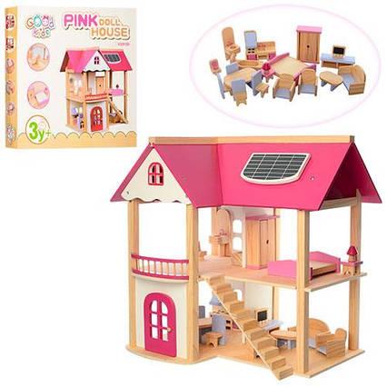Дерев'яний будиночок для ляльок арт. 1068 (21374)