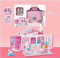 Домик - сумочка с зайчиками (для фигурок пони, кукол LOL) арт. 6629