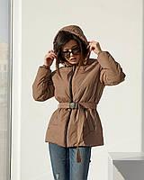 Стильна подовжена демісезонна куртка вільного покрою