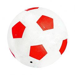 М'яч футбольний BT-FB-0203 Гумовий для асфальту 350 р. (Червоний)