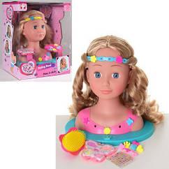 Лялька-манекен для зачісок. Якісні волосся. Шпильки і гумки. Гребінець. арт. 888