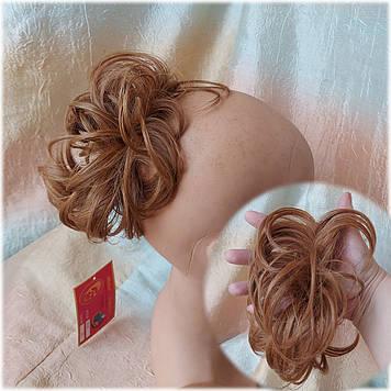 Резинка шиньон из волос медный 0215А-27C Global