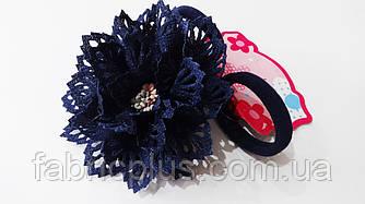 Резинка для волос с цветком 9 см цвет в ассортименте