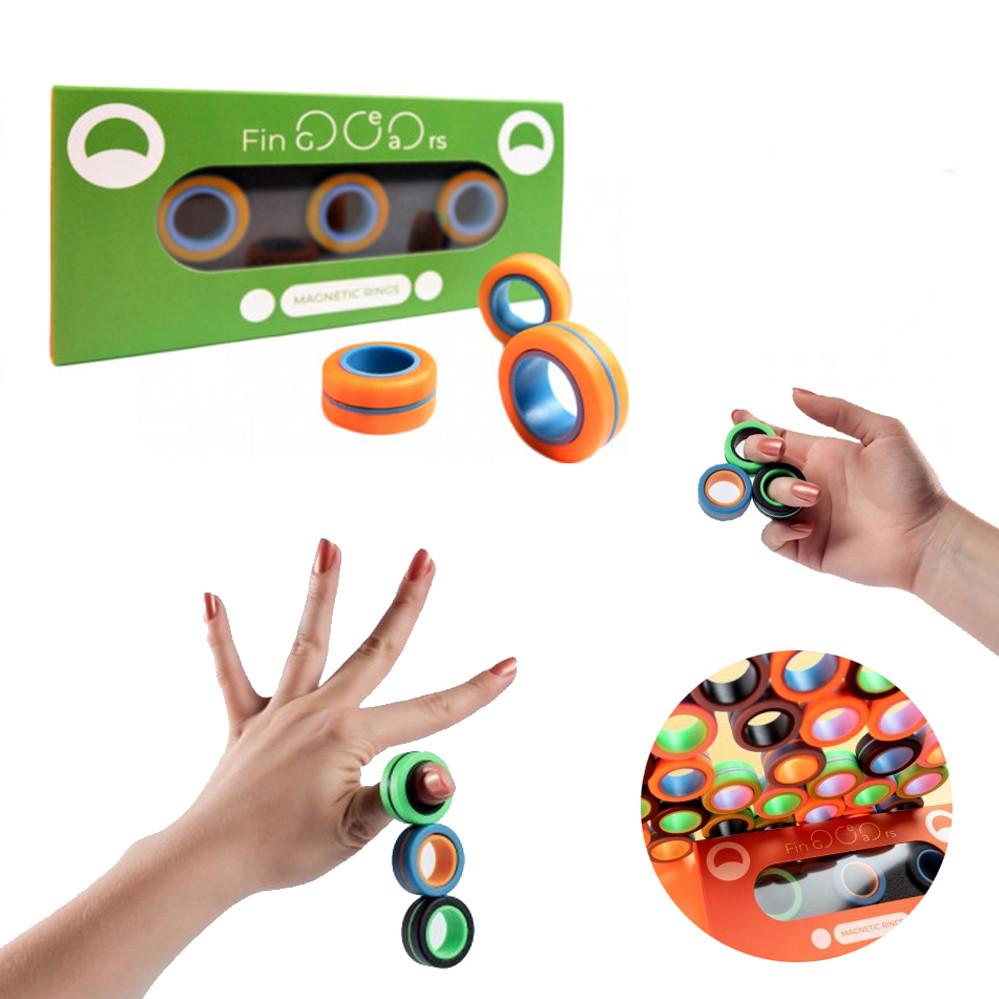 Магнітні кільця спинеры FinGears Size S маленький розмір Фиджет спінер Іграшка антистрес магніт для дітей