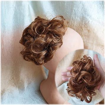 Резинка шиньон из волос каштаново-медный 0215V-30