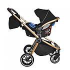 Коляска универсальная 3 в 1 с надувными колесами CARRELLO Epica CRL-8511 Space Black +дождевик, фото 3