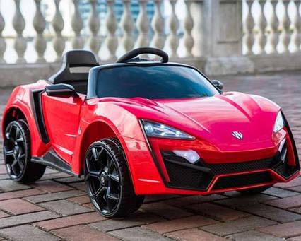 Детский электромобиль с пультом T-7623 Lykan HyperSport красный