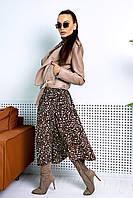Куртка косуха стильная бежевая женская,р-р S-M/ L-XL