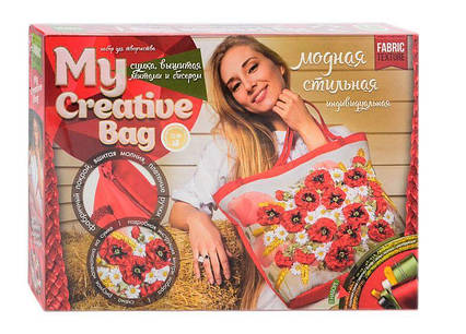 "Вышивка-сумка бисером и лентами My Creative Bag (5) ""ДАНКО ТОЙС"", (Украина)"