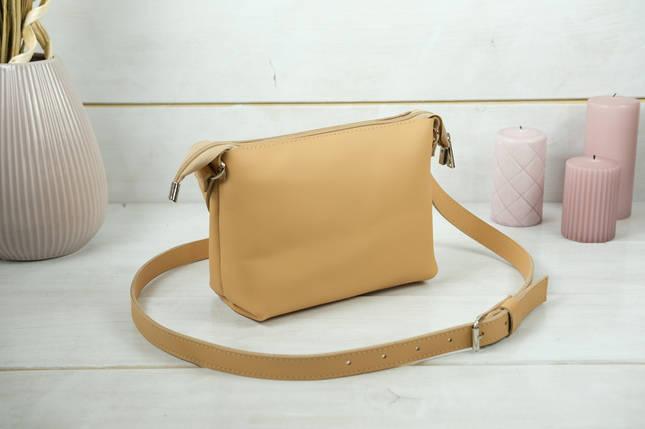 Сумка женская, Кожаная сумочка Лето Кожа, кожа Grand, цвет Бежевый, фото 2