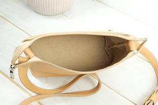 Сумка женская, Кожаная сумочка Лето Кожа, кожа Grand, цвет Бежевый, фото 3