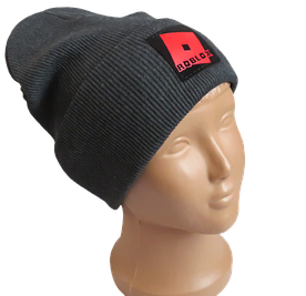 Молодежная весенняя хлопковая шапка Fero с логотипом, темно-серая