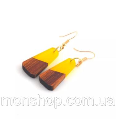 Сережки з дерева та смоли