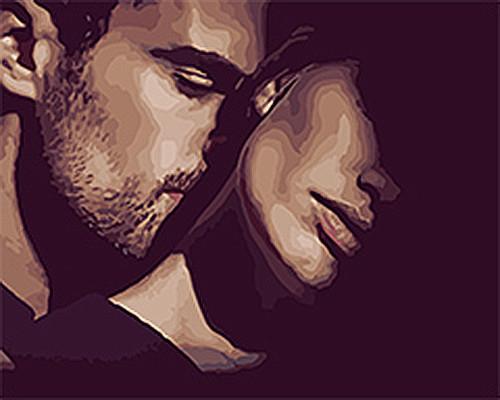 """Картина за номерами Люди """"Дотик любові"""" 40 * 50см KHO4556"""