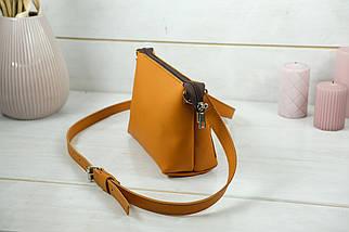 Женская кожаная сумка Лето, натуральная кожа Grand, цвет Янтарь, фото 2