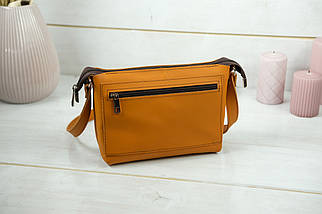 Женская кожаная сумка Лето, натуральная кожа Grand, цвет Янтарь, фото 3