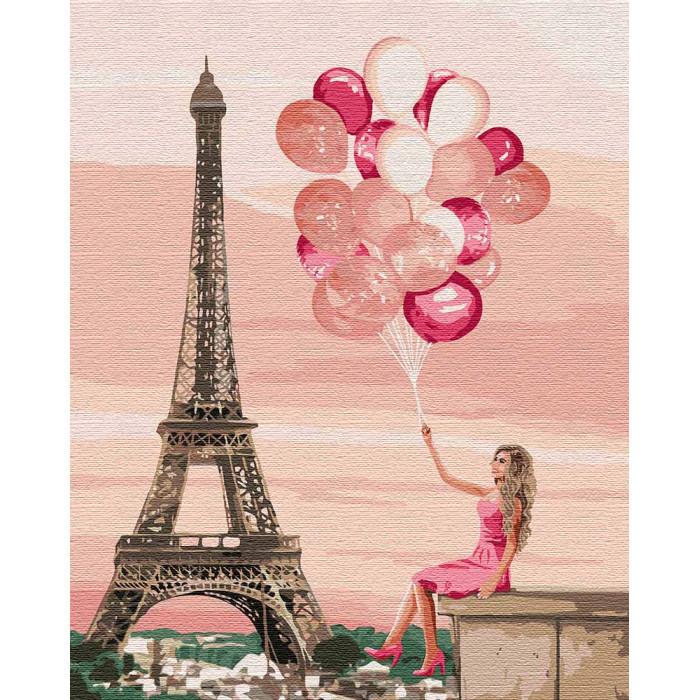 """Картина за номерами """"Лілові фарби Парижа"""" 40 * 50см KHO4761"""