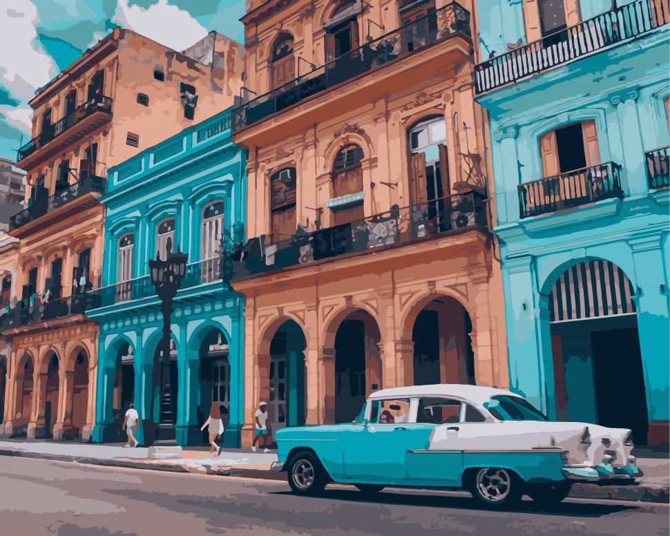 """Картина по номерам Art Craft """"Яркая Куба"""" 40*50 см 10536-AC"""