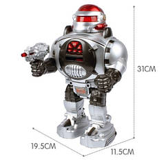 Дитячий робот на радіоуправлінні 28083 стріляє дисками