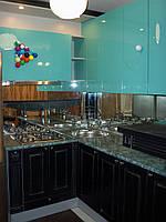 Кухня Бильярд, угловая, крашеная, скинали, фото 1