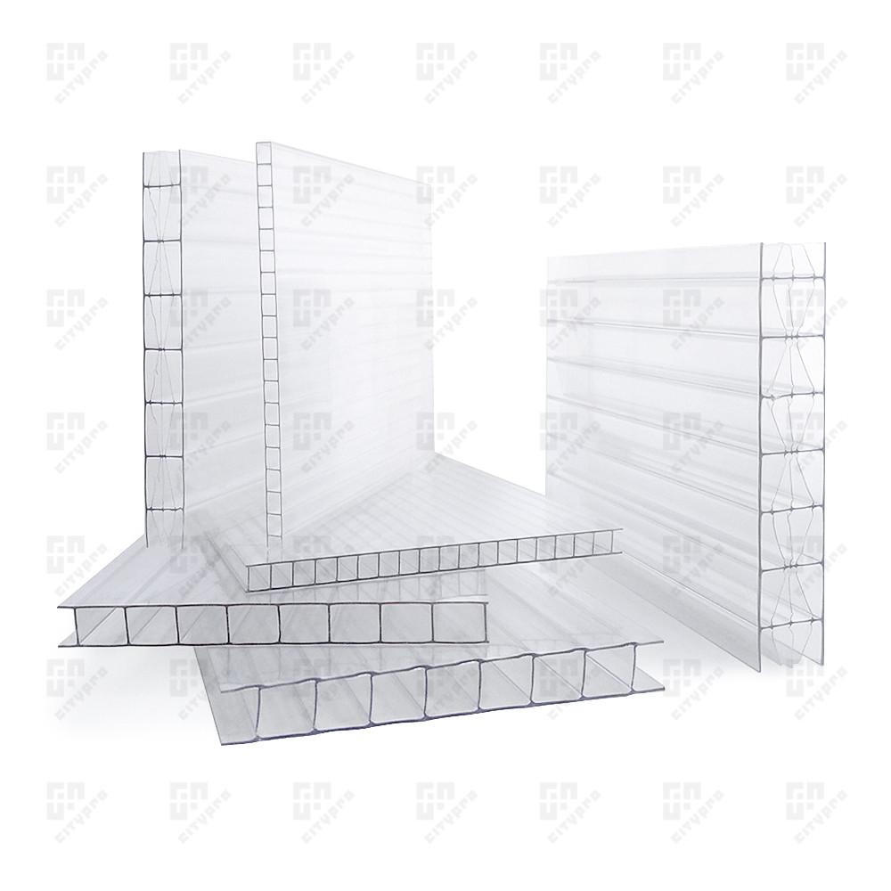 Сотовый поликарбонат Soton, прозрачный 78%, лист 2.1 х 12 м, 10 мм
