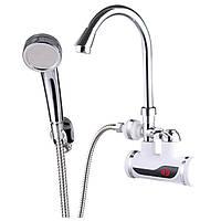 Кран с подогревом для душа ZERIX ELW08-EPW,электрический водонагреватель душ, кран для ванны и кухни лучший