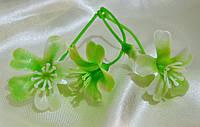 3 цветка пластик