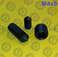 Настановний гвинт DIN 914, ГОСТ 8878-93, ISO 4027. М4х8, фото 1