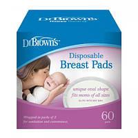 Одноразові вкладиші в бюстгальтер Dr. Brown's 60 шт в упаковці
