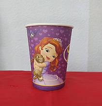 Набор бумажных стаканов ринт Принцесса София 250мл 5шт.
