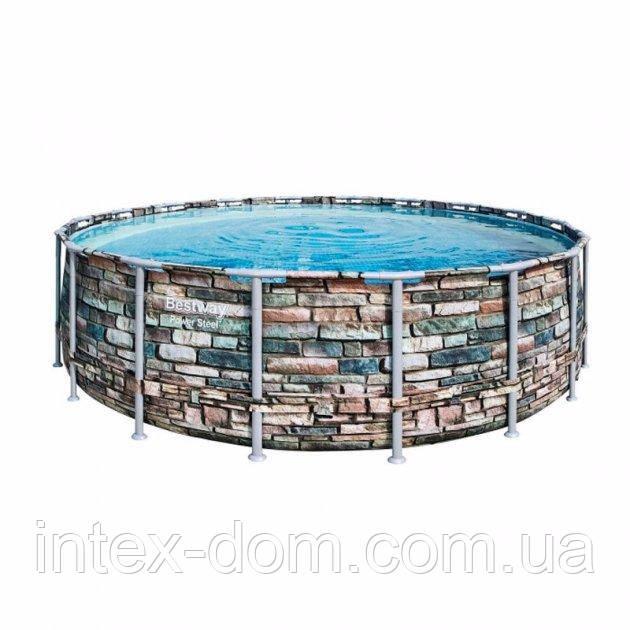 Каркасный бассейн Bestway 56886 (549 x 132 см) (5 678 л/ч, дозатор, лестница, тент)