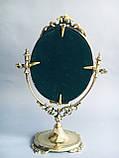 """Зеркало на ножке """"Овальное (м)"""" из бронзы, фото 3"""