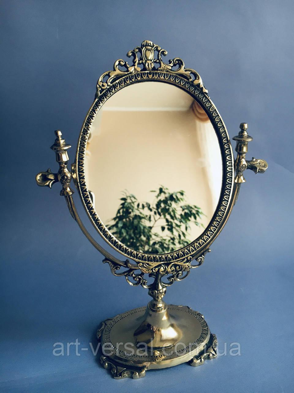 """Зеркало на ножке """"Овальное (м)"""" из бронзы"""