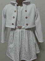 Праздничное платье с муховым балеро