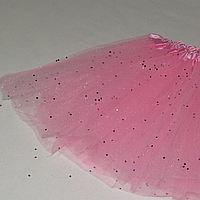 Юбка розовая детская пачка карнавальная пышная из фатина